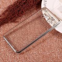 Rámovaný gelový obal na Samsung Galaxy S8 - stříbrný