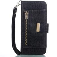 StyleCroco PU kožené pouzdro s přihrádkami na Samsung Galaxy S8 - černé