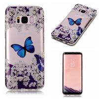Patty gelový obal na Samsung Galaxy S8 - modrý motýl