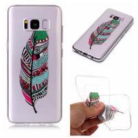 Patty gelový obal na Samsung Galaxy S8 - peříčko