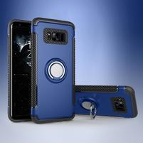 Ring odolný obal se stojánkem na Samsung Galaxy S8 - modrý