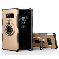 Dropy odolný obal se stojánkem na Samsung Galaxy S8 - zlatý