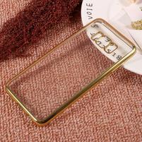 Rámovaný gelový obal na Samsung Galaxy S8 - zlatý