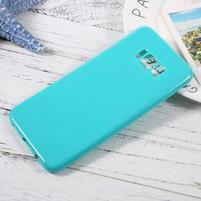 GT lesklý gelový obal na Samsung Galaxy S8 Plus - azurový