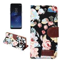 Flowers knížkové pouzdro na Samsung Galaxy S8 Plus - černé