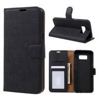 Clothy PU kožené pouzdro na mobil Samsung Galaxy S8 Plus - černé
