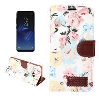 Flowers knížkové pouzdro na Samsung Galaxy S8 Plus - bílé