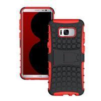 Outdoor odolný obal se stojánkem na Samsung Galaxy S8 Plus - červený