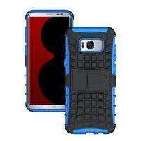 Outdoor odolný obal se stojánkem na Samsung Galaxy S8 Plus - modrý