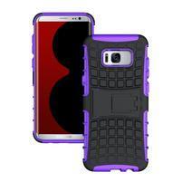 Outdoor odolný obal se stojánkem na Samsung Galaxy S8 Plus - fialový