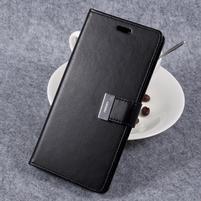 RichDiary PU kožené pouzdro na mobil Samsung Galaxy S8 Plus - černé
