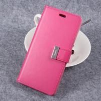 RichDiary PU kožené pouzdro na mobil Samsung Galaxy S8 Plus - rose