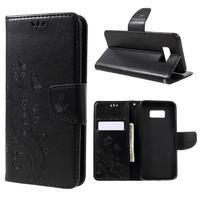 Butterfly peněženkové pouzdro na Samsung Galaxy S8 Plus - černé