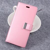 RichDiary PU kožené pouzdro na mobil Samsung Galaxy S8 Plus - růžové