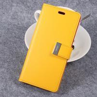 RichDiary PU kožené pouzdro na mobil Samsung Galaxy S8 Plus - žluté