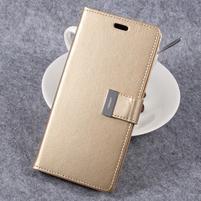 RichDiary PU kožené pouzdro na mobil Samsung Galaxy S8 Plus - zlaté