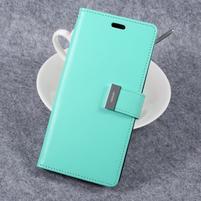 RichDiary PU kožené pouzdro na mobil Samsung Galaxy S8 Plus - azurové