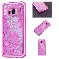 Sandy přesýpací gelový obal na Samsung Galaxy S8 Plus - květy