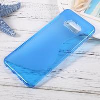 S-line gelový obal na mobil Samsung Galaxy S8 Plus - modrý