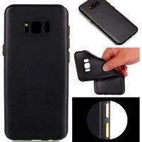 Rubber pogumovaný gelový obal na Samsung Galaxy S8 Plus - černý