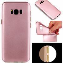 Rubber pogumovaný gelový obal na Samsung Galaxy S8 Plus - růžovozlatý