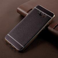 Cloth gelový obal s PU koženými zády na Samsung Galaxy S8 Plus - černý
