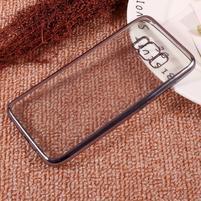 Rámovaný gelový obal na Samsung Galaxy S8 Plus - šedý