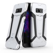 KickStand odolný obal se stojánkem na Samsung Galaxy S8 Plus - bílý
