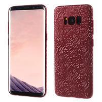 Mosaic plastový obal se vzorkem na Samsung Galaxy S8 Plus - červený
