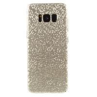 Mosaic plastový obal so vzorkom na Samsung Galaxy S8 Plus - zlatý