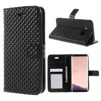 Rhomb peněženkové pouzdro na Samsung Galaxy S8 Plus - černé
