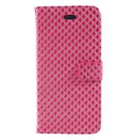 Rhomb peněženkové pouzdro na Samsung Galaxy S8 Plus - rose