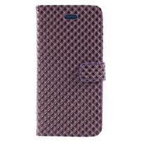 Rhomb peněženkové pouzdro na Samsung Galaxy S8 Plus - fialové