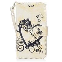 Heart peněženkové pouzdro s poutkem na Samsung Galaxy S8 Plus - bílé