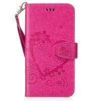 Heart peněženkové pouzdro s poutkem na Samsung Galaxy S8 Plus - rose