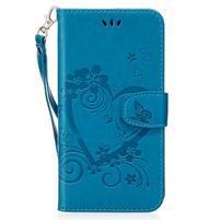 Heart peněženkové pouzdro s poutkem na Samsung Galaxy S8 Plus - modré