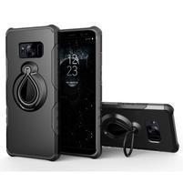 Dropy odolný obal se stojánkem na Samsung Galaxy S8 Plus - černý