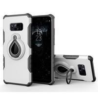 Dropy odolný obal se stojánkem na Samsung Galaxy S8 Plus - bílý