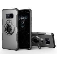 Dropy odolný obal se stojánkem na Samsung Galaxy S8 Plus - šedý