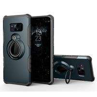 Dropy odolný obal se stojánkem na Samsung Galaxy S8 Plus - tmavěmodrý