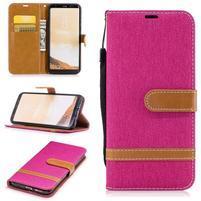 Jeany textilní/PU kožené pouzdro na Samsung Galaxy S8 Plus - rose