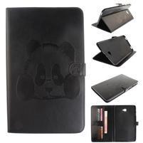 Panda polohovatelné PU kožené pouzdro na Samsung Galaxy Tab A 10.1 (2016) - černé