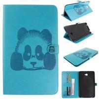 Panda polohovatelné PU kožené pouzdro na Samsung Galaxy Tab A 10.1 (2016) - modré