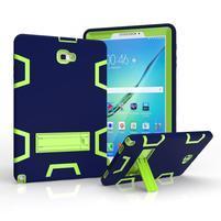 KickStand odolný obal se stojánkem na Samsung Galaxy Tab A 10.1 (2016) - modrý/zelený