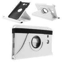 Circ PU kožené otočné pouzdro na Samsung Galaxy Tab A 7.0 - bílé