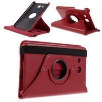 Circ PU kožené otočné pouzdro na Samsung Galaxy Tab A 7.0 - červené
