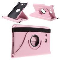 Circ PU kožené otočné pouzdro na Samsung Galaxy Tab A 7.0 - růžové