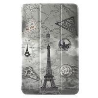 Leathy PU kožený obal na tablet Samsung Galaxy Tab E 9.6 - Eiffelova věž