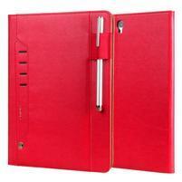 LuxyStand PU kožené pouzdro na tablet Samsung Galaxy Tab S3 9.7 - červené