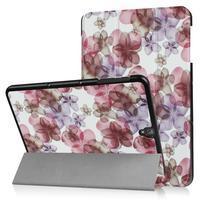 Emotive PU kožené polohovatelné pouzdro na Samsung Galaxy Tab S3 9.7 T820 - květiny